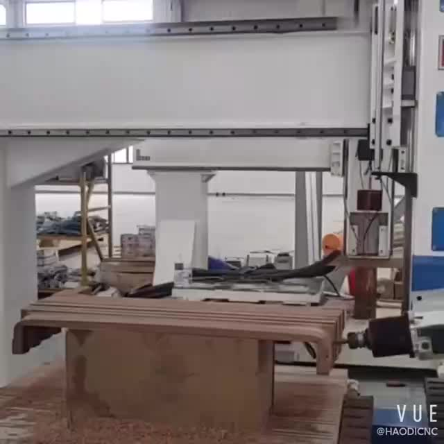 HAODICNC豪迪数控EXCELLENTCNC四轴五轴联动加工中心弯曲木椅背加工