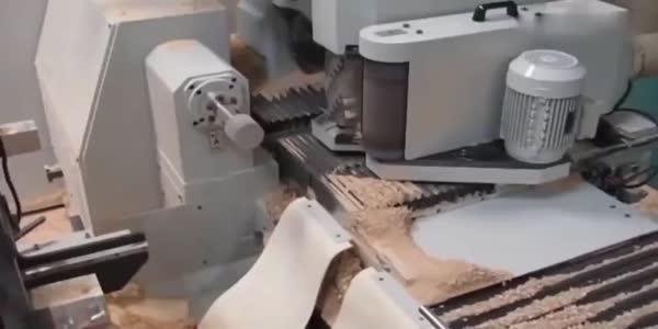 德国的数控术到底多强,一截木头经数控术加工,都能随心所欲变形